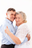 Portrait of smiling elderly couple Stock Photo