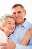 Portrait of smiling elderly couple Stock Photography