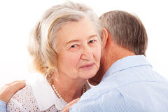 Portrait of smiling elderly couple Royalty Free Stock Photography