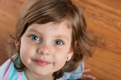 Closeup portrait of a smiling girl Stock Image