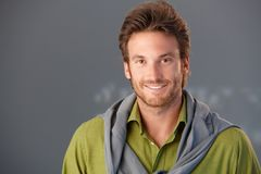 Closeup portrait of smiling man Royalty Free Stock Photography