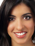 Closeup portrait of smiling middle eastern woman Stock Image