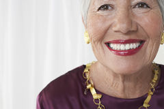 Closeup Portrait Of Smiling Senior Woman Royalty Free Stock Photo