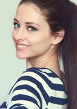 Closeup portrait of smiling teen girl Royalty Free Stock Photos