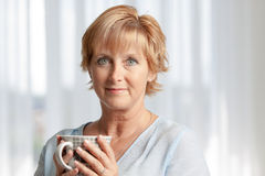 woman having coffee Stock Photo