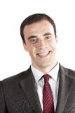 Closeup portrait of smiling young business man Royalty Free Stock Images