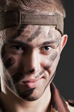 Closeup portrait of soldier Royalty Free Stock Image