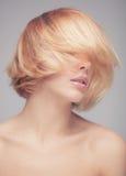 Closeup portrait of a stunning blonde beauty Stock Photos