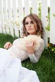 Closeup portrait of stylish young woman Stock Image