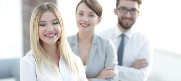 Closeup portrait of successful business team. the business concept Royalty Free Stock Image