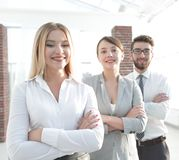 Closeup portrait of successful business team. the business concept Stock Photography