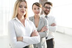 Closeup portrait of successful business team. the business concept Royalty Free Stock Photography