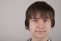 Closeup portrait of teen boy Stock Photo