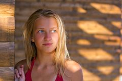 Closeup portrait of a teen girl Royalty Free Stock Images