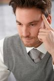 Closeup portrait of thinking man Royalty Free Stock Image