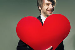Closeup portrait of a valentine's boyfriend Stock Photography