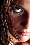 Closeup portrait of wild girl Stock Photography