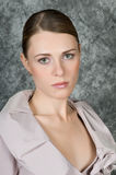 Closeup Portrait Of Woman. Closeup portrait of a beautiful young woman Stock Images