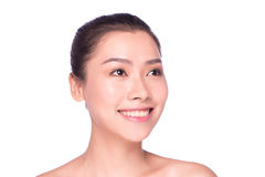 Closeup portrait of woman with day makeup Royalty Free Stock Images