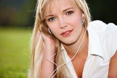 Closeup portrait of youg woman Stock Images