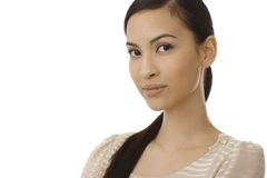 Closeup portrait of young Asian woman Royalty Free Stock Photo