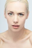 Closeup portrait of young beautiful emotional Royalty Free Stock Image