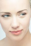 Closeup portrait of young beautiful emotional Stock Images