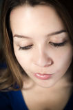 Closeup portrait of young beautiful teen girl's Royalty Free Stock Photo
