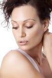 Closeup portrait of young beautiful woman Stock Photography
