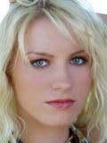 Closeup portrait of young blond teenage girl Stock Photos