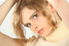 Closeup portrait of young blonde Stock Photography