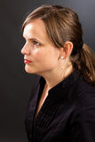 Closeup portrait of a young businesswoman Royalty Free Stock Image