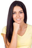 Closeup Portrait of a Young Casual Girl Stock Image