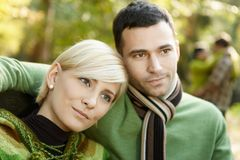 Closeup portrait of young couple Royalty Free Stock Images