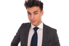 Closeup portrait of a young elegant business man Royalty Free Stock Photos