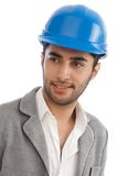 Closeup portrait of young engineer Royalty Free Stock Photography