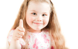 Closeup portrait of young girl Royalty Free Stock Photography