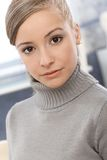 Closeup portrait of young girl Stock Photos