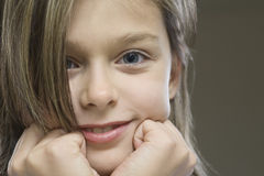 Closeup Portrait Of Young Girl Stock Photography