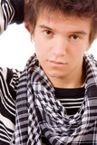 Closeup portrait of a young guy Royalty Free Stock Images