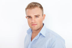 Closeup portrait of young serious businessman Royalty Free Stock Images