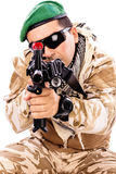 Young soldier with a rifle Stock Photography