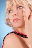 Closeup portrait young woman Stock Image