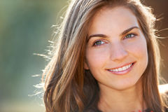 Closeup portrait of young woman Royalty Free Stock Images