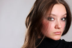 Closeup portrait young woman Royalty Free Stock Image