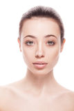 Closeup portrait of young woman with clean fresh skin Royalty Free Stock Photo