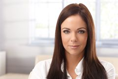 Closeup portrait of young woman Stock Photography