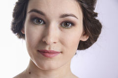 Closeup Portrait of an young woman. pure skin Royalty Free Stock Photography