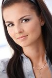 Closeup portrait of young woman smiling Royalty Free Stock Images