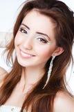 Closeup portret of a beautiful woman Royalty Free Stock Photos